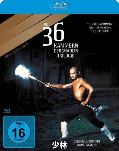 Die 36 Kammern der Shaolin-Trilogie [Blu-ray]inkl. VSK  für 8,97 € @ AMAZON.DE