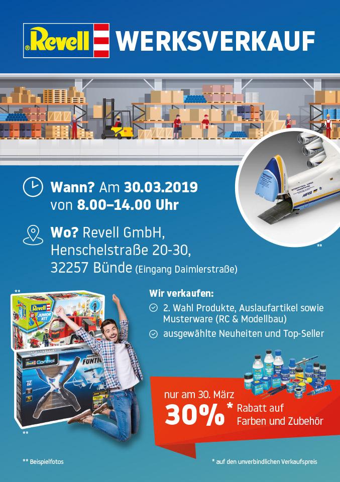 LOKAL Revell Werksverkauf 30% Rabatt auf Modelle, Farben etc.... in Bünde