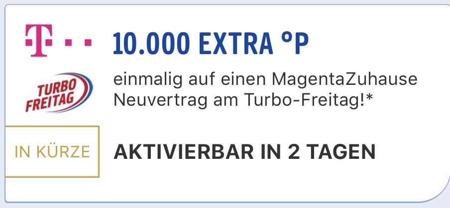 [Payback] Turbo Freitag: 10.000 Extra Punkte auf Telekom Magenta ZuHause