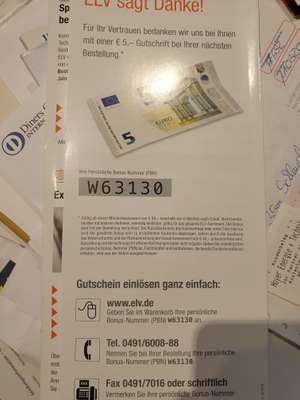 5 Euro ELV Gutschein Homematic IP
