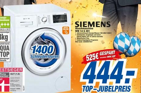Siemens Waschmaschine WM14G491 (regional/online)