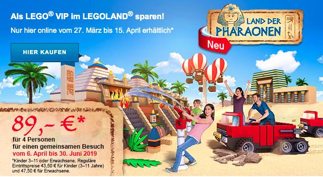 [Legoland Günzburg] LEGO VIP TICKET – 89 € für 4 Personen (Tageskarte)
