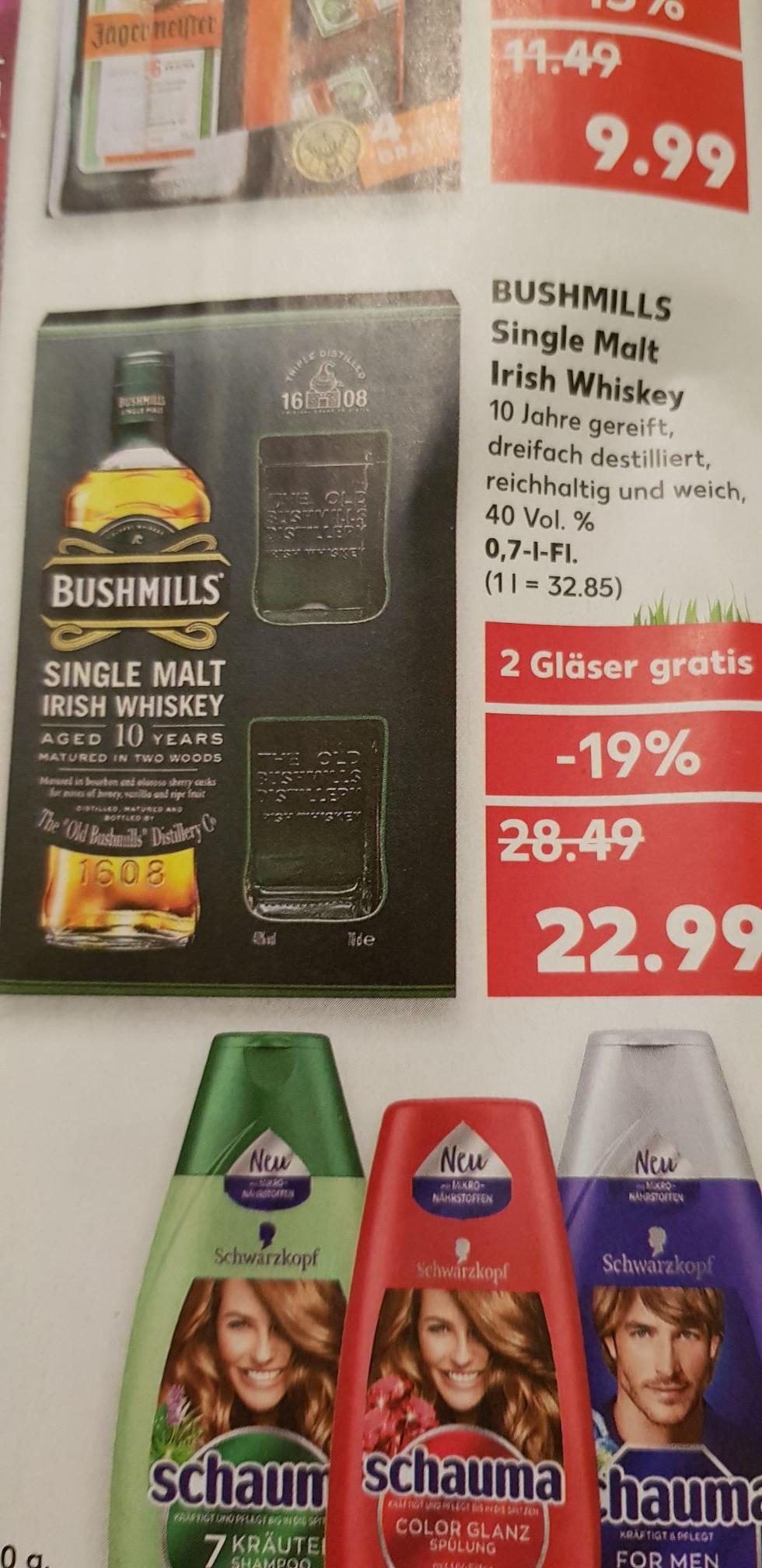 *Kaufland Bundesweit *Bushmills 10 Jahre Single Malt