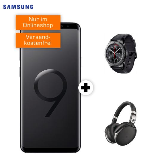 SAMSUNG Galaxy S9+ Dual-SIM & Samsung Galaxy Gear S3 frontier & Sennheiser HD 4.50