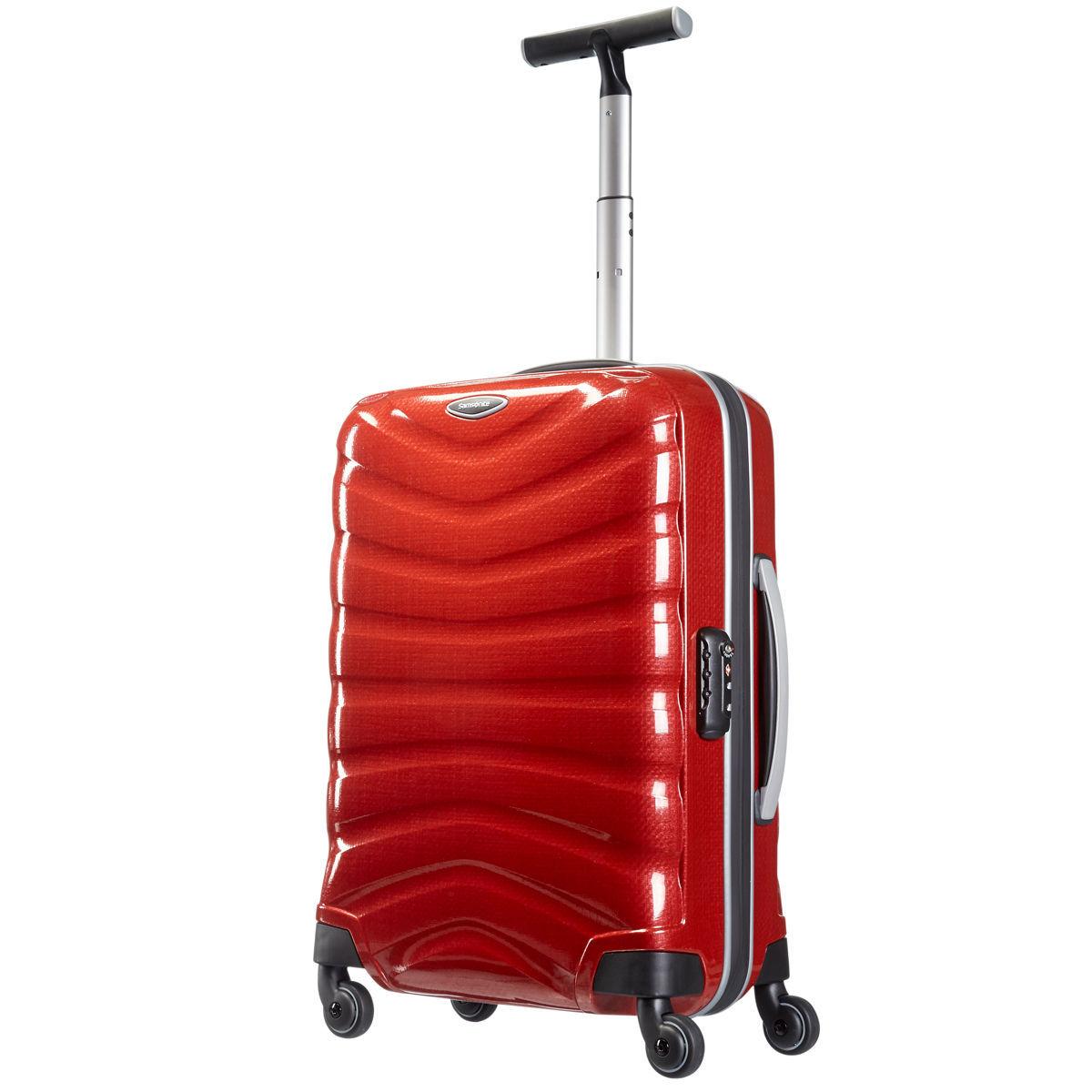 Samsonite Firelite Trolley (55x40x20cm) in 2 Farben erhältlich: dunkelgrau und rot, Curv Hartschale, TSA Schloß
