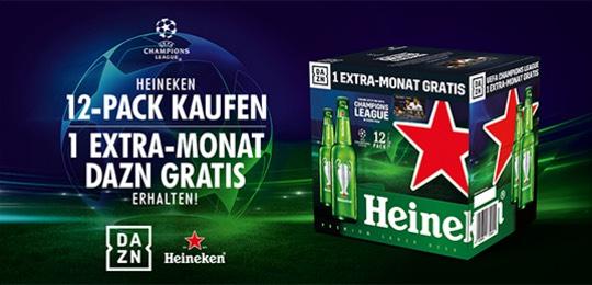 [AT] 1 Monat DAZN Gratis beim Kauf eines 12er Trays Heineken