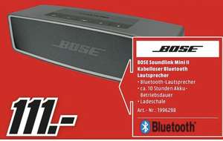 [MediaMarkt Gifhorn&Wolfsburg am 31.03.] Bose Soundlink Mini II | Bose Soundbar500 @333€ | H&K CitationOne @166€ | SAMSUNG GQ55Q7 @888€ u.a.
