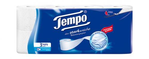 Kuscheliges Tempo-Toilettenpapier - Kaiser's - 8*170 Blatt - 3-lagig - 1,99 €