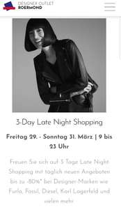 DESIGNER OUTLET ROERMOND 3-Day Late Night Shopping