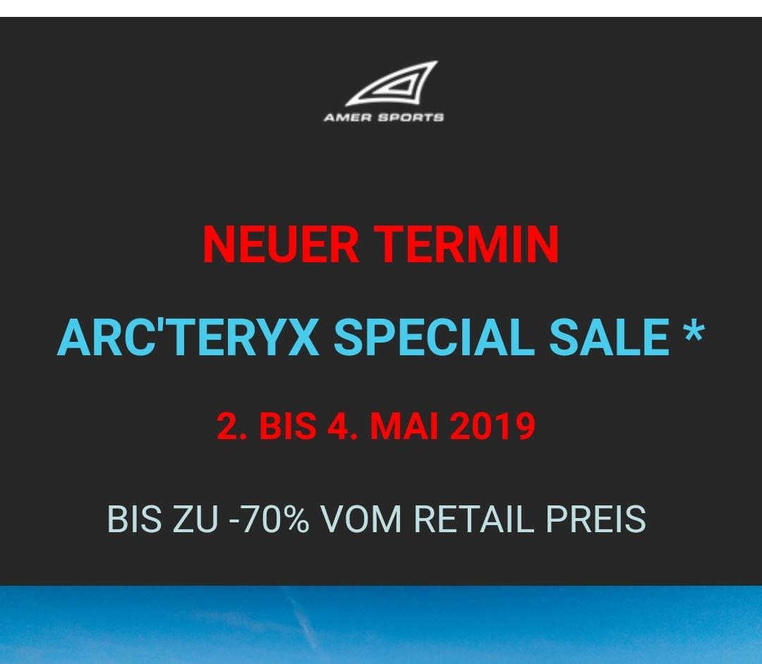 [lokal Garching bei München] Arcteryx Sample Sale bis 70%