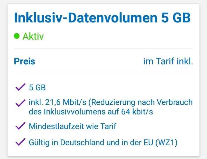 (Blau Kunden) Gratis Upgrade bei Tarif Blau XL von 4GB auf 5GB