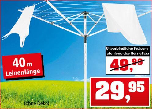 Leifheit Wäschespinne LinoPush 400 für 29,95 Euro [Thomas Philipps]