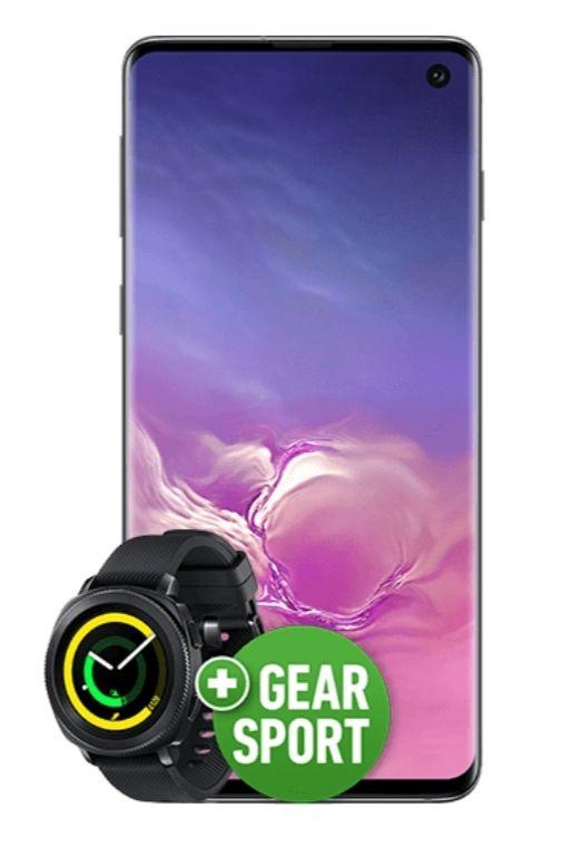 Samsung Galaxy S10 und Watch Gear Sport im Vodafone Smart L (7 bzw. 12 GB LTE, Allnet/SMS) mtl. 36,99€ und 99€ einmalig