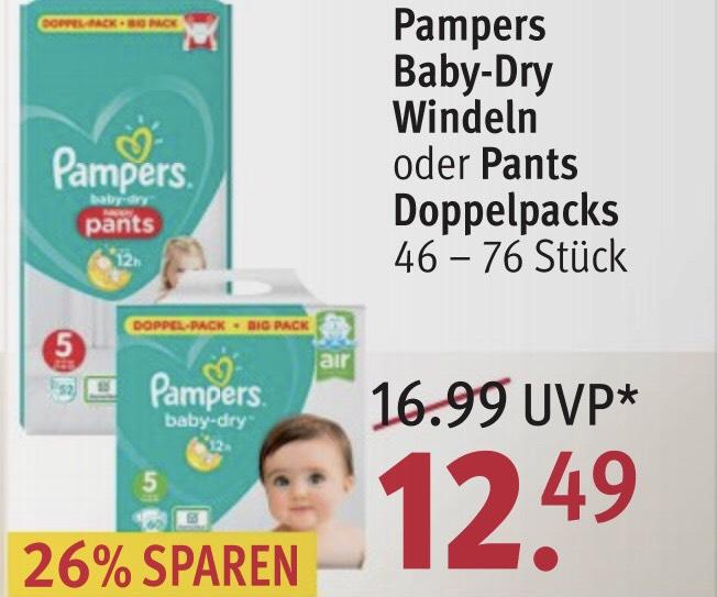 Pampers Baby-Dry u. Pants [Rossmann Bestpreis]