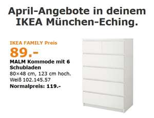 lokal ikea m nchen eching ikea malm mit 6 schubladen in wei ab april. Black Bedroom Furniture Sets. Home Design Ideas