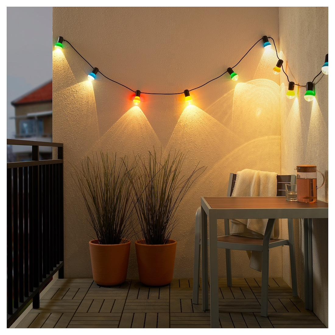 ikea family solvinden lichterkette 12 led f r drau en klar bunt au enbeleuchtung. Black Bedroom Furniture Sets. Home Design Ideas