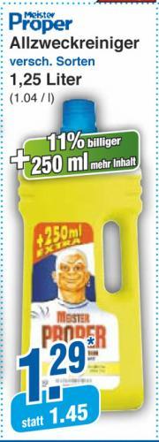 [Offline] Meister Proper für 64cent/Liter bei Netto-Markendiscount ab DO