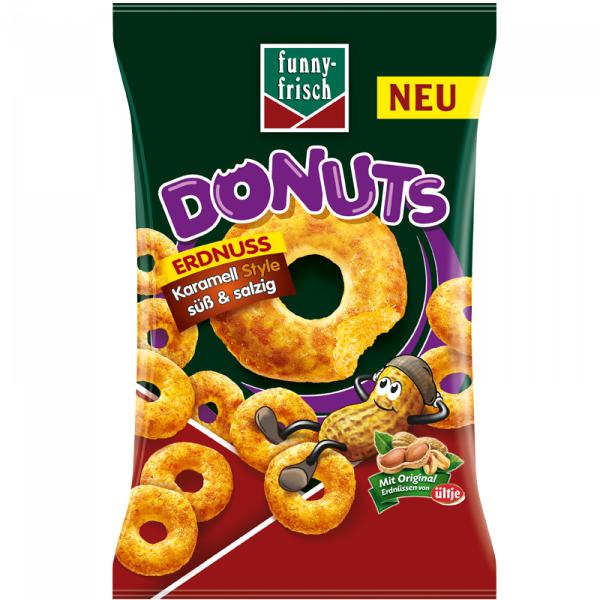Funny Frisch Erdnuss Donuts Karamell Style süß & salzig 110g für 0,99€ [Norma ab 01.04.19]