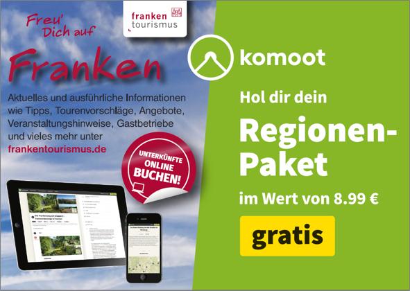 ein kostenloses komoot Regionen-Paket