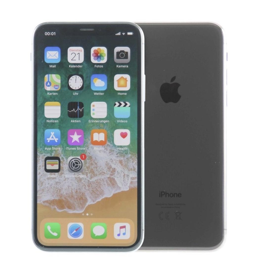 iPhone X 64GB Spacegrau (Flip4Shop / Wie Neu / 12 Monate Gewährleistung)