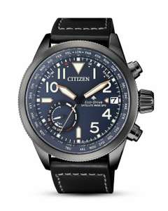 Citizen Solar, GPS, Saphirglas, Leder, 20 bar