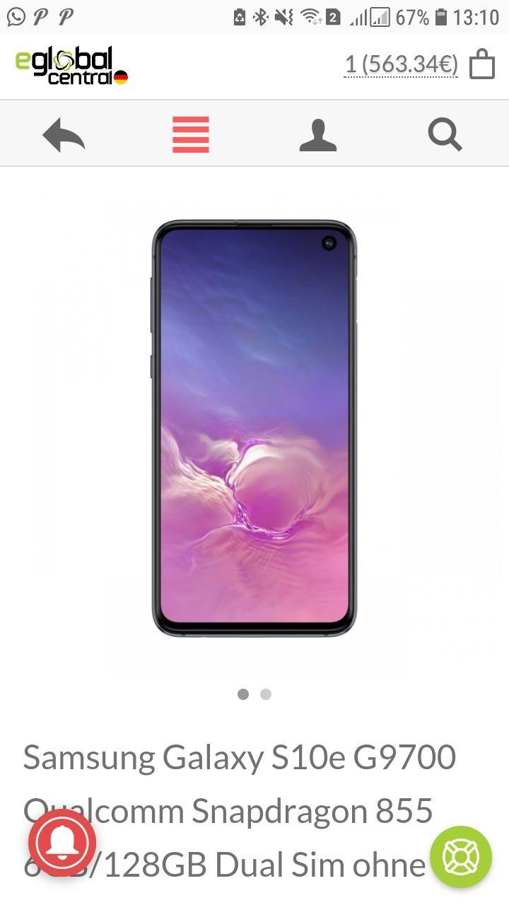 Samsung Galaxy S10e G9700 Qualcomm Snapdragon 855 6GB/128GB Dual Sim ohne SIM-Lock - Schwarz