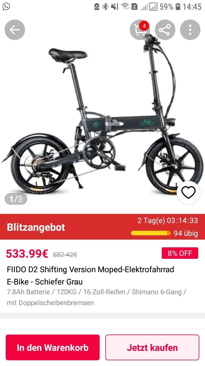 FIIDO D2 mit 6 Gang Schaltung Shifting Version Elektrofahrrad E-Bike