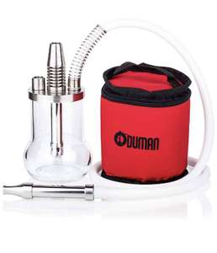 Oduman Micro Shisha - Edelstahl Outdoor Shisha Set inkl. Tasche