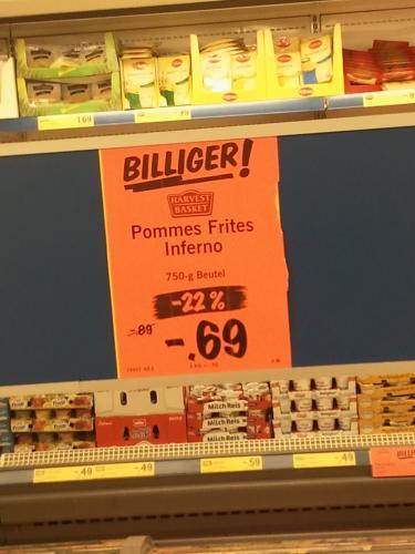 [Lokal Lidl, Bundesweit?] Pommes Frites Inferno -22% =69