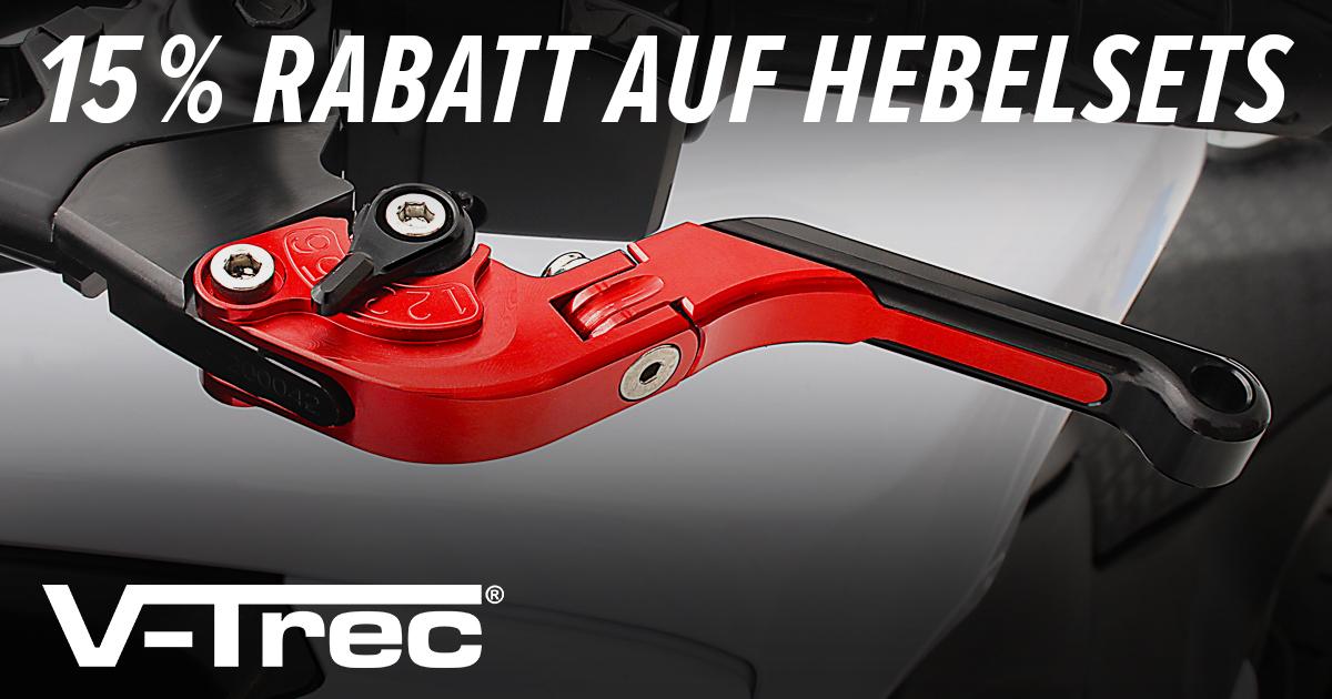 15% Rabatt auf V-Trec® Motorrad Hebelsets bei Motea.com