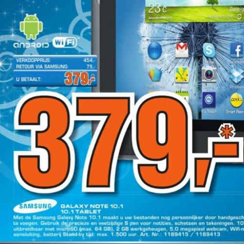 Samsung Galaxy Note 10.1 WiFi für 379 EUR im Saturn NL