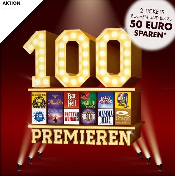 2 Tickets von Stage Entertainment buchen und bis zu 50€ sparen