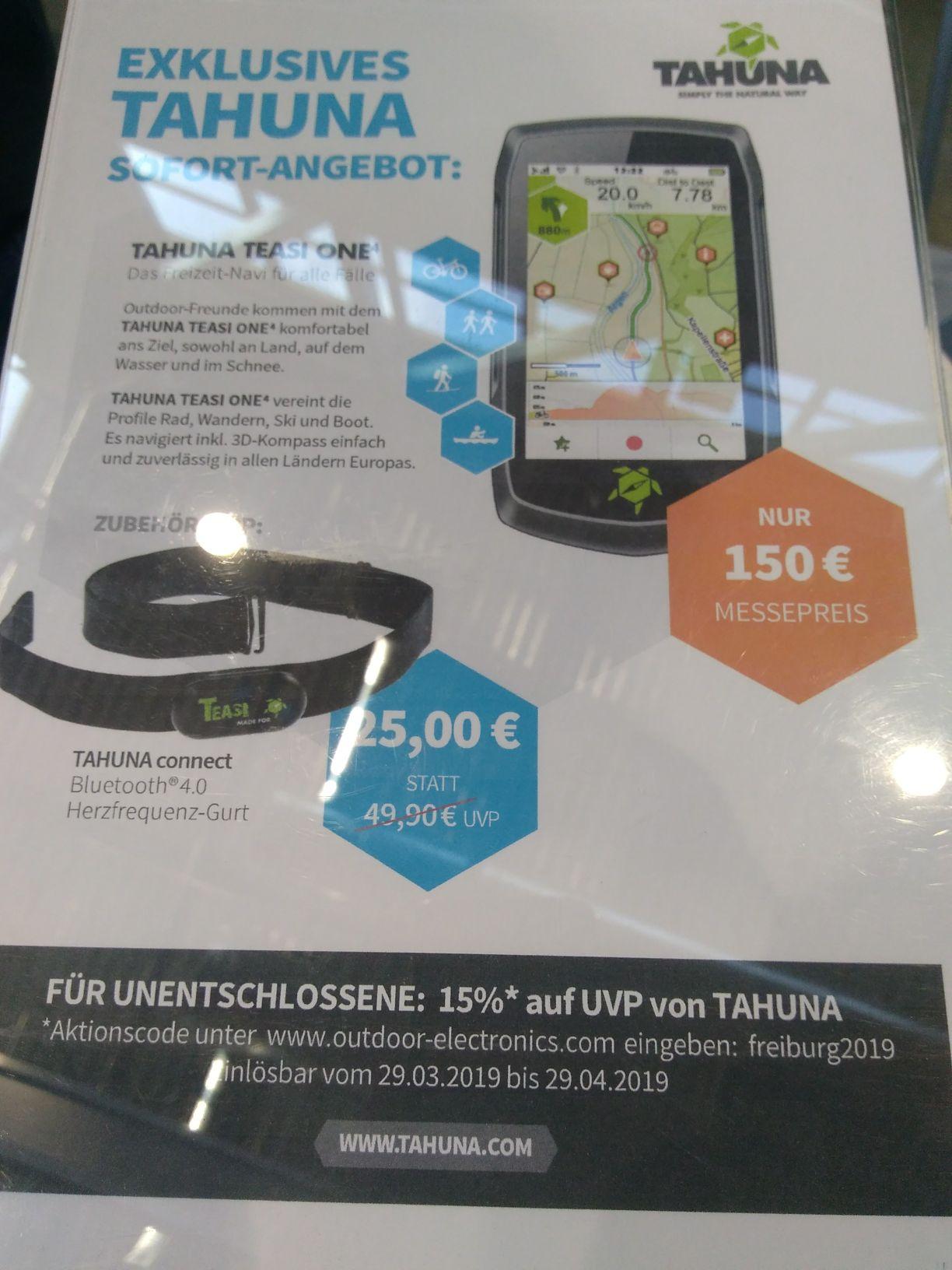 GPS-Gerät Tahuna Teasi one 4 mit HR-Gurt (neues Modell)
