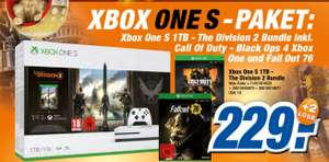 [Expert wohl Bundesweit ab 10.04] Microsoft Xbox One S 1TB + Tom Clancy's The Division 2 + Black Ops 4 + Fallout 76 für 229,-€