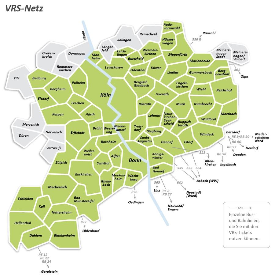 [Lokal] Region Köln/Bonn - ÖPNV im VRS gratis nutzen am 23.06.2019