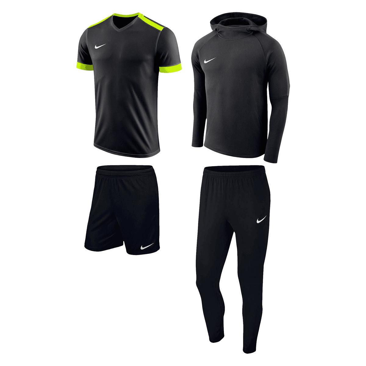 Preis gesenkt: Nike Trainingsset Premium 4-teilig in div. Farben + 2 Energy Cake Riegel (125g) gratis on top
