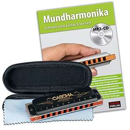 [Prime] CASCHA HH 1610 Professional Blues Harmonica Set (Mundharmonika + Übungs-CD)