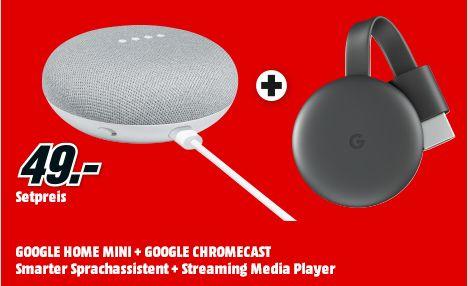 [Mediamarkt] Google Home Mini + Google Chromecast 3.Generation für zusammen 49,-€