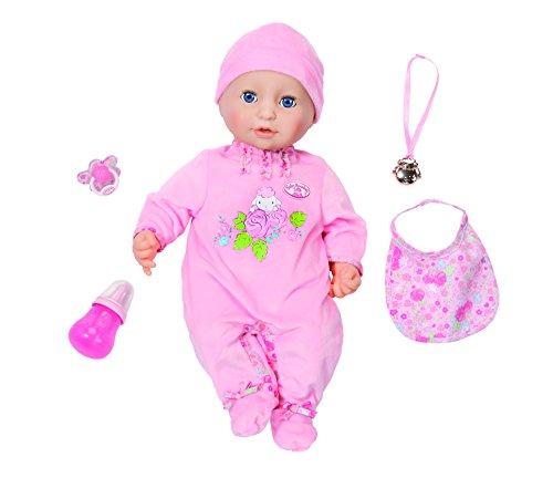 Zapf Creation - Baby Annabell weiche Babypuppe mit vielen lebensechten Funktionen mit Schlafaugen und Zubehör,  rosa, 43 cm.
