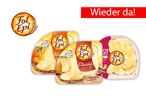 Scondoo: 3x Fol Epi Käse kaufen und 3 € Cashback erhalten / Rewe ab 8.4.für 1,49€ / Kaufland ab 11.4. für 1,49€
