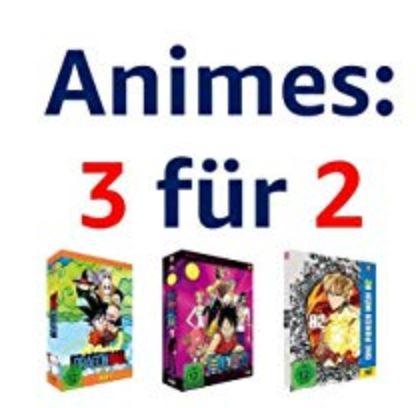 Amazon 3-für-2-Aktion Blu-ray und Dvd Anime