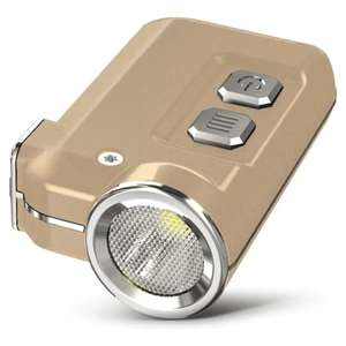 Schlüsselbund-Taschenlampe Nitecore Tini (CREE XP G2 S3 LED, 4 Stufen, max. 380 Lumen, 280 mAh-Akku, per USB aufladbar, IP54)