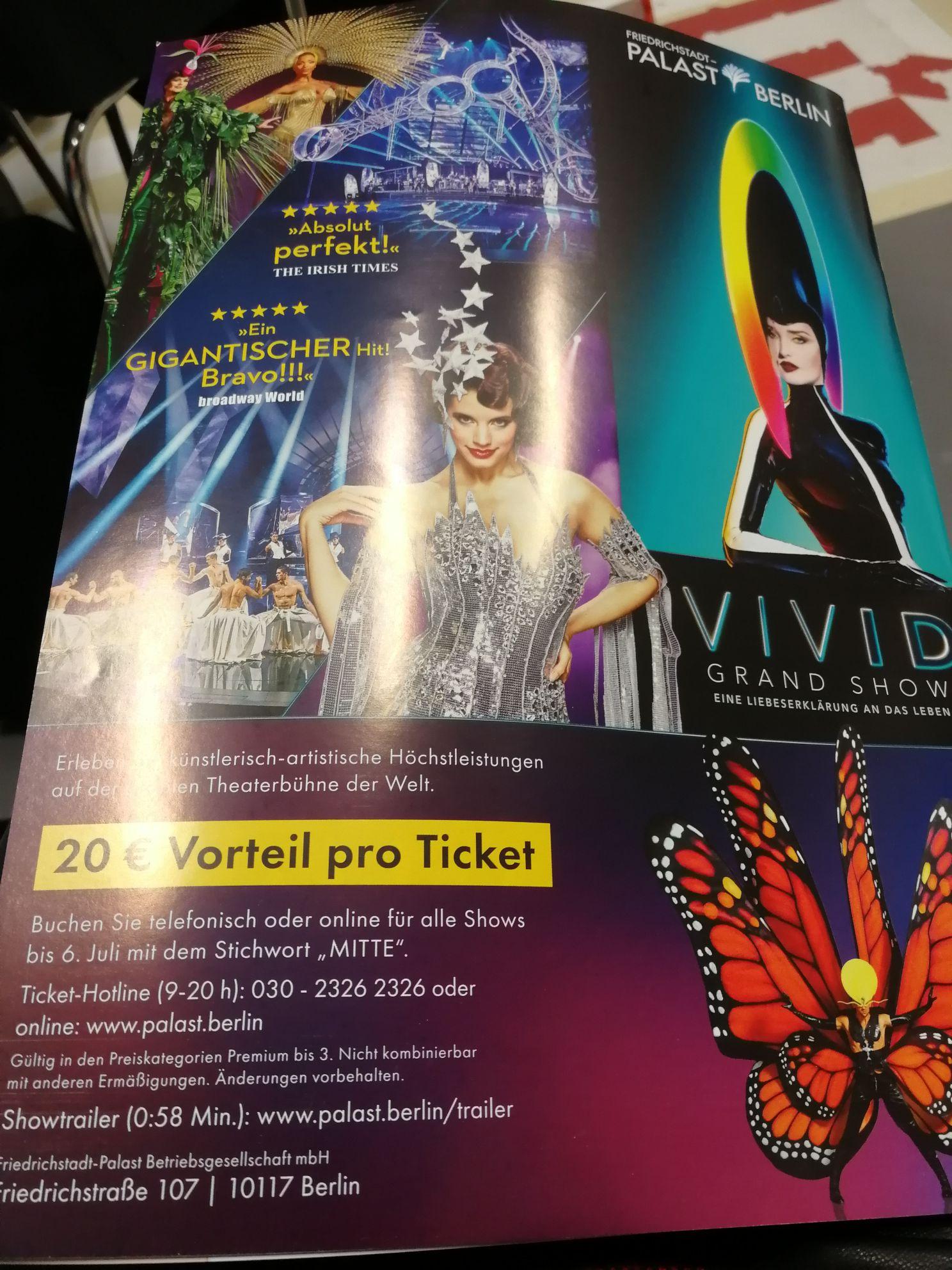 [lokal, Berlin] 20 € Rabatt VIVID Grand Show im Friedrichstadt-Palast