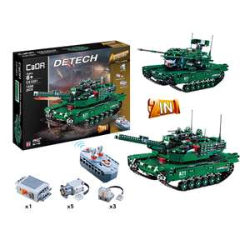 Klemmbaustein Set - CaDA C61001W - 1498 Teile -  M1A2 Abrams - 2,4Ghz RC