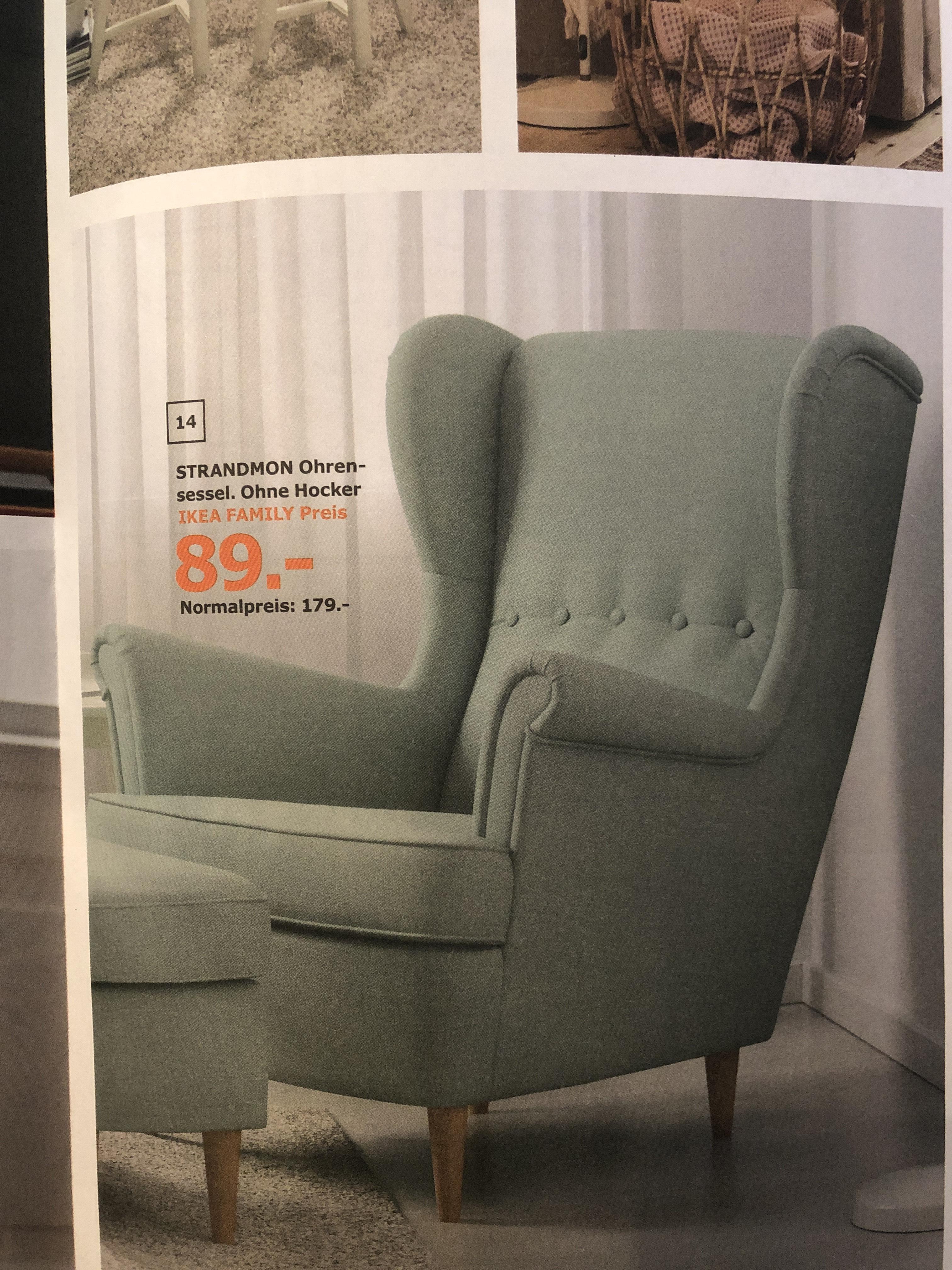 [Ggf. Lokal] IKEA Strandmon Family Preis: 89,00 - Farbe: helltürkis