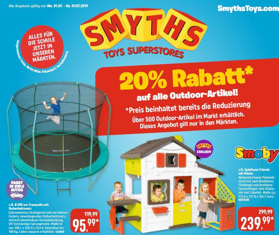 SMYTHS - Trampolin (Ø 305 cm)  - 20% auf Outdoor