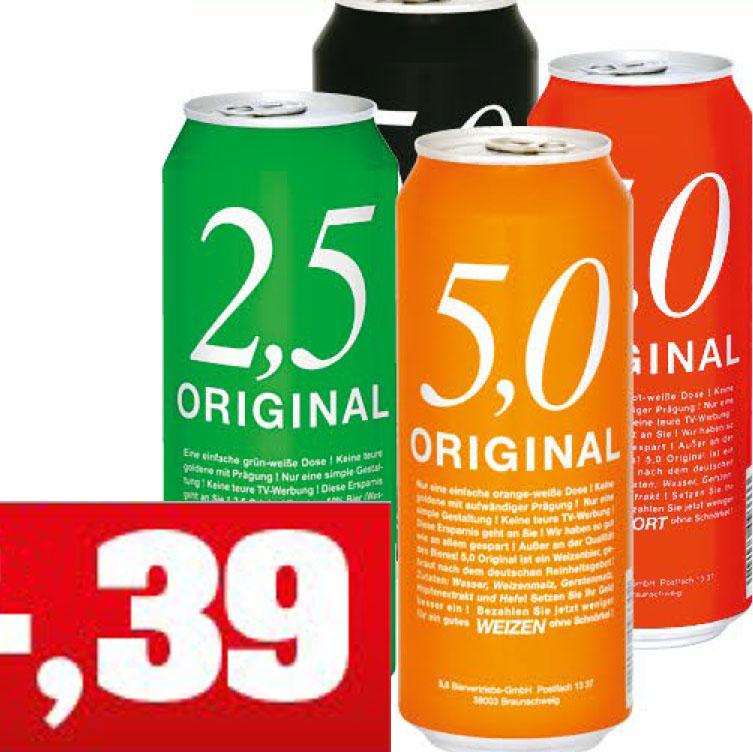 5,0 Original Pils, Weizenbier, Radler für nur 39 Cent bei ( Thomas Philipps ab 8.4.)