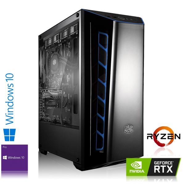 GAMING PC AMD Ryzen 5 1600X 6x3.60GHz | 16GB DDR4 | RTX 2060 | 240GB SSD + 1TB HDD | Win 10 Pro