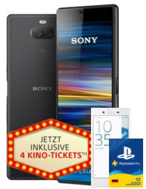 congstar Allnet Flat Speed (3GB LTE, Telekom Netz) mit Sony Xperia 10 + Sony Xperia X Compact + 12 Monaten PlayStation Plus + 4 Kinokarten