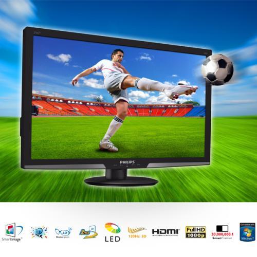 [iBood] Philips 27-Zoll-3D-LCD-Monitor für 258,90 inkl. VSK